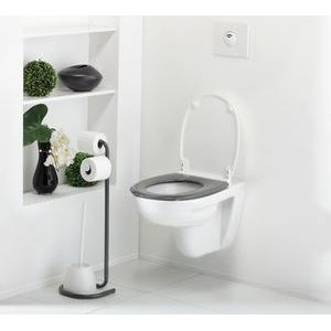 abattant wc be color blanc gris m 16862 2j allibert. Black Bedroom Furniture Sets. Home Design Ideas