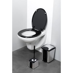 porte brosse wc foxy brosse metal noir m 17801 41 allibert acheter le porte brosse wc foxy. Black Bedroom Furniture Sets. Home Design Ideas